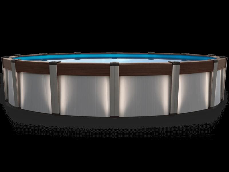 Сборный круглый бассейн Atlantic Pools Contempra 7,3 x 1,35 м