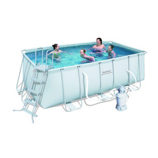 Каркасный бассейн Bestway 56457 (412х201х122) с песочным фильтром
